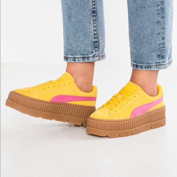 Puma Fenty by Rihanna Yellow and Pink creeper
